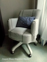 Grain Sack Desk Chair Slipcover