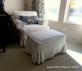 August Blues - Linen Slipcover After3