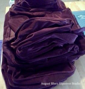 August Blues - Velvet Cushions