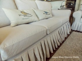 August Blues - Couch Pleats