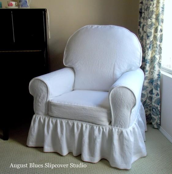 August Blues - Linen Slipcover