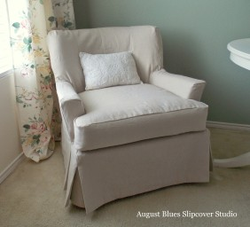 August Blues - Dropcloth Slipcover